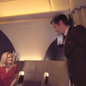 "With Nicole Kidman in Etihad VR film ""Flying Reimagined"""